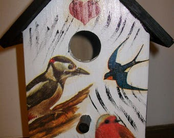 Birdhouse for decoration inside or under cover