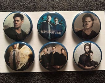 Supernatural Magnets, one inch round