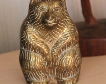 Vintage Brass Grizzlybear