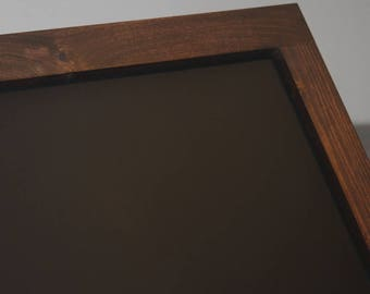 "Framed Magnetic Chalkboard- Farmhouse Chalkboard Wedding Chalkboard 24"" x 48"" Kitchen Chalkboard Rustic Chalkboard Large ChalkBoard Sign"