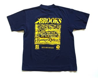 1995 runners choice series Short Sleeve T Shirt may the wind always be at your back brooks t shirt 90s brooks tee shirt
