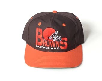 Cleveland browns nfl football annco american needle Snapback Snap back Strapback hat One Size Adult Unisex twill brown orange adjustable hat