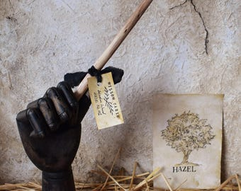 HAZEL Genuine Wood Wands -  (Harry Potter, Wicca, Witch, Pagan, Druid) - CHOICES AVAILABLE