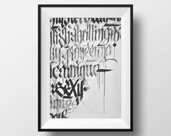 Calligraphy Photography Print