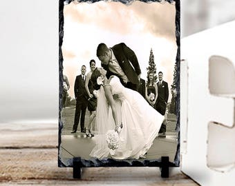 Your Photograph on Natural Slate Tile, Photographic Keepsake, Photo Memory Decor, Personalized Photo Decor, Photo Table Decoration