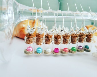 Unique Wine Gift, Wine Charms, Nautical Wine Glass Charms, Beach Wine Charms, Multi-Color Wine Charms, Wine Lover Gift, LasmasCreations
