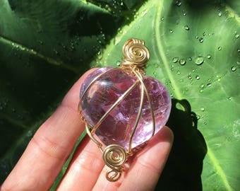 Amethyst Necklace, Amethyst Heart, Amethyst Pendant, Amethyst Jewelry, Amethyst Heart Necklace, Gift For Her, Amethyst Crystal, Quartz Heart