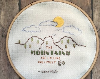John Muir cross-stitch