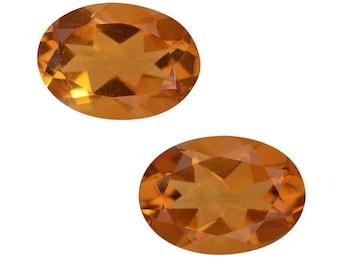 Citrine Set of 2 Loose Gemstones Oval Cut 1A Quality 7x5mm TGW 1.25 cts.