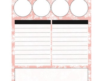 Lace 2 Note Page Sticker for Erin Condren Planner