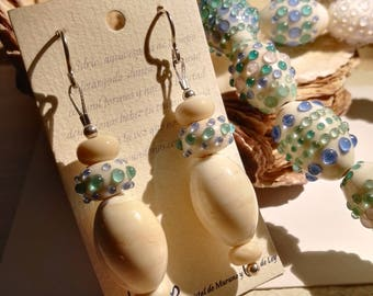 Murano Glass Earrings inspired by the Sea and the Shells