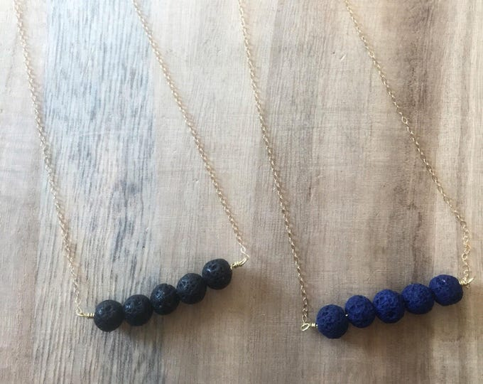 Lava Stone Necklace, Essential Oil Necklace, Essential Oil Jewelry, Lava Necklace, Lava Essential Oil