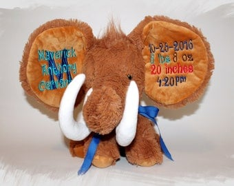 Fight Like a Kid NEW Wooly Mammoth Dumble Stuffed Animal. Completely Customizable.