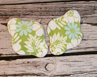 "SECONDS  8"" Minky Topped Cloth Panty Liner With Wings"