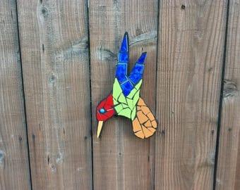 Hummingbirds, mosaic, garden art, garden statues