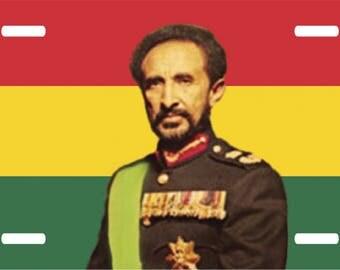 Haile Selassie License Plate Auto Tag