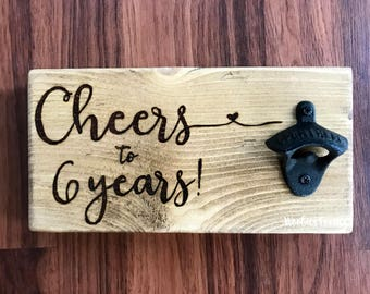 Anniversary gifts for men, Custom bottle opener, Wall mount bottle opener, Bottle opener, Beer bottle opener, Rustic beer opener, Wood sign