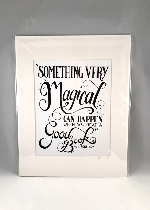 Hand Drawn JK Rowling Print   Hand Written Quote Signs   Home Decor   Gifts for the Home   Gift for Mom   Gift for Co Worker