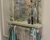 ON SALE You Pick, Clover Mesh Series Wall Mounted Jewelry Organizer, Wall Organizer, Jewelry Display, Necklace Holder, Earring Organizer