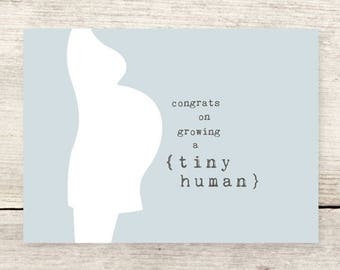 New Mom greeting card, New Baby card, Baby Shower card, Pregnancy card