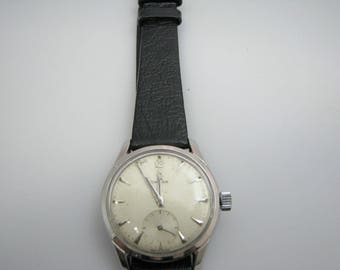 a337 Authentic Vintage 1950's Omega Wrist Watch with Seconds Sub Dial