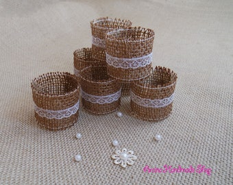 Table Setting, Wedding Table Decor, Burlap Wedding Napkin Rings, Rustic Wedding Napkin Holders, Set of 25
