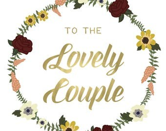 To The Lovely Couple - Blank Notecard - Greeting card