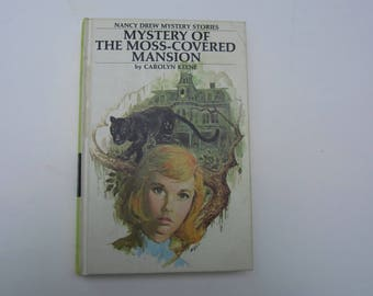 Nancy Drew Mystery of the Moss-Covered Mansion, Nancy Drew Number 18, Nancy Drew vintage book, 1970s Nancy Drew book, Nancy Drew mystery