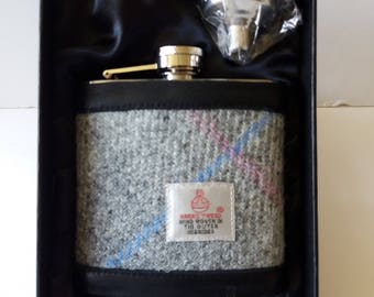 Hip Flask / Harris Tweed ? Leather