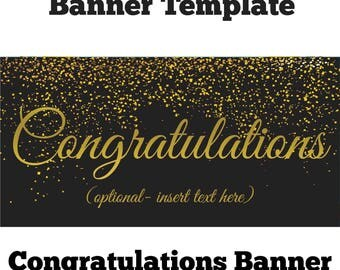 Congratulations banner4ftx2ft personalised text