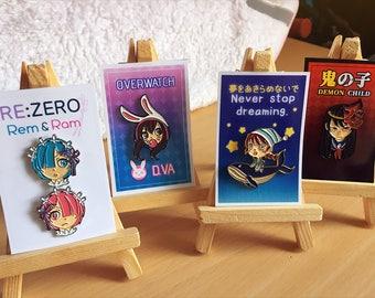 Re:Zero, Overwatch, and Original【 Enamel Pin 】