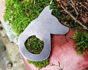 German shepherd Dog Rustic Steel Recycled Metal Industrial Bottle Opener, Travel Gift, wedding favor, Party gift, beer opener