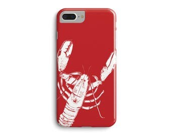 Red Lobster Phone Case, sea lover gift iphone case 3D Phone Case iPhone 7 Plus iPhone 6 6S Plus iPhone 5 5S Galaxy S7 Edge S6 Edge S5 Case