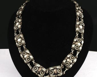 Vintage Danish Silver Necklace by N.E. From Denmark Sterling j774