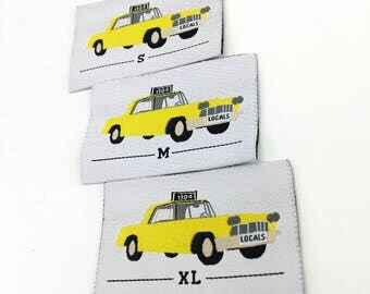 60 Custom woven label, triangle folded fabric cloth labels, center fold woven labels for clothing, Free shippping