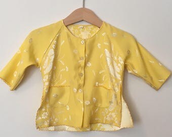 Vintage Baby Clothes, Girl, Shirt, Vintage Baby Top, Baby Girl Top, vintage Boho Baby
