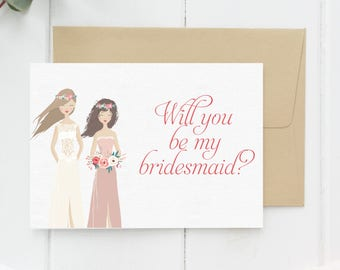 Bridesmaid proposal card, wedding cards, proposal ideas, Maid of honour proposal, Maid of honor proposal, Maid of honour sister gift