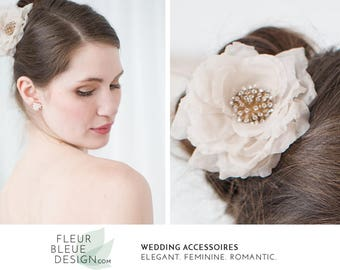 boho flower | hair flower | bridal flower hair piece | flower headpiece | wedding flower hair | bridal hair flower | artificial flower