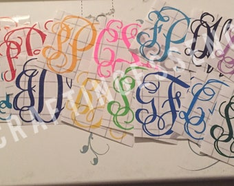 Monogram Decals - Multiple Sizes Available