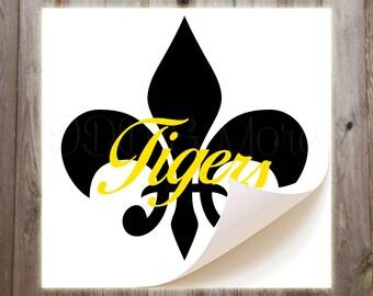 Personalized Fleur De Lis Vinyl Decal
