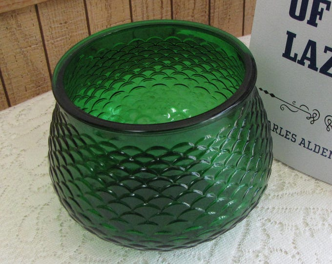 Vintage Emerald Green E.O. Brody Planter Glass Florist Ware Bouquets Vase Flowers Gifts