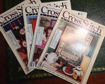 Vintage  Four  Cross  Stitch  Magazines - 1987-   Counted Cross Graphs - Lots of Projects