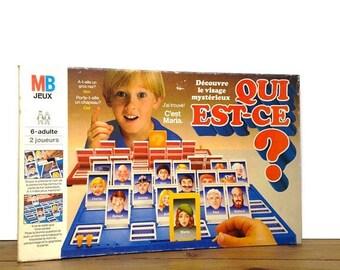 """ON SALE Vintage game """"Qui est-ce"""" (""""Who is it?"""")"""