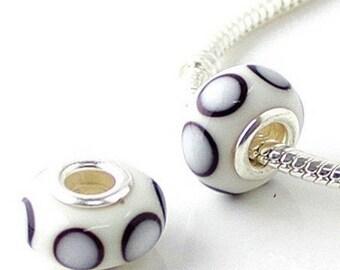 1 bead MURANO 925 silver plated