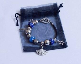 "Blue and silver bracelet ""Beautiful Ocean"""