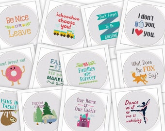 35 Of My Cutest Most Fun and Original Funny and Cute Quote Cross Stitch Patterns In One Easy Instant Download