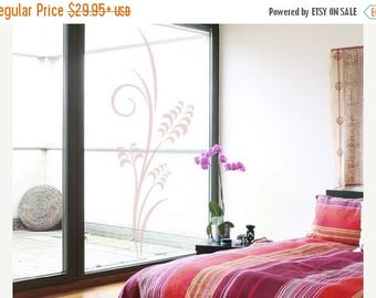 20% OFF Summer Sale Corn Branch glass window wall decal, sticker, mural, vinyl wall art