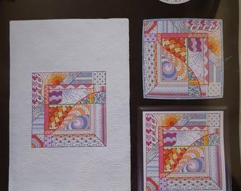 Dazzling Doodles 2:  Artiste Stamped Cross Stitch Kit