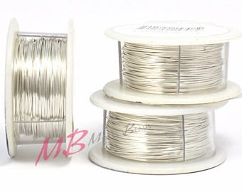20ga Tarnish Resistant  Silver Craft Wire, Silver Plated Crafting Wire