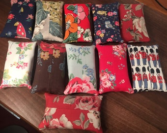 Cath Kidston Fabric pocket tissue holders plus other fabrics